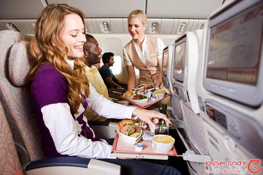 کیترینگ لوکس و متفاوت هواپیمایی امارات