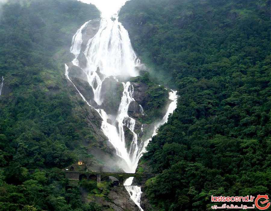 بازدید از آبشارهای Dudhsagar