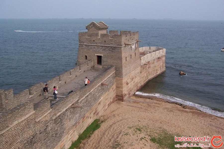 انتهای دیوار چین چه شکلی است؟