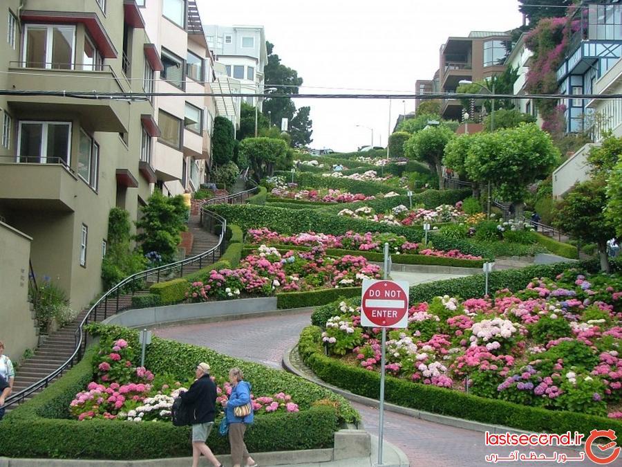 پرپیچ و خم ترین خیابان جهان