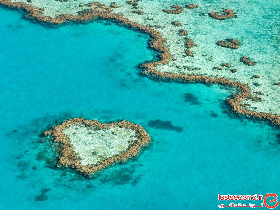 8 جزیره زیبا که به شکل قلب هستند
