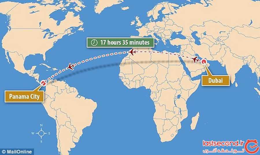 طولانی ترین پروازهای بدون توقف 