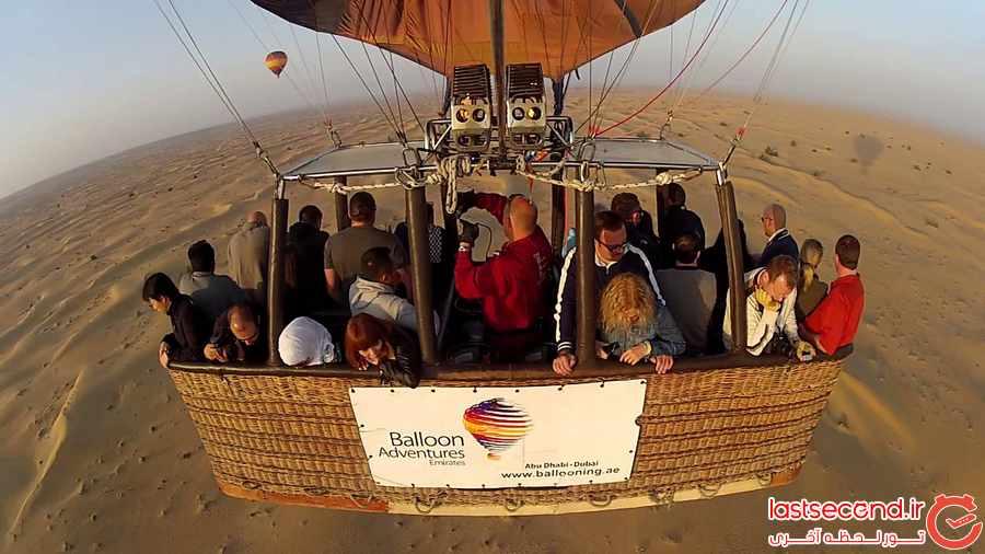 بالن سواری بر فراز آسمان دبی
