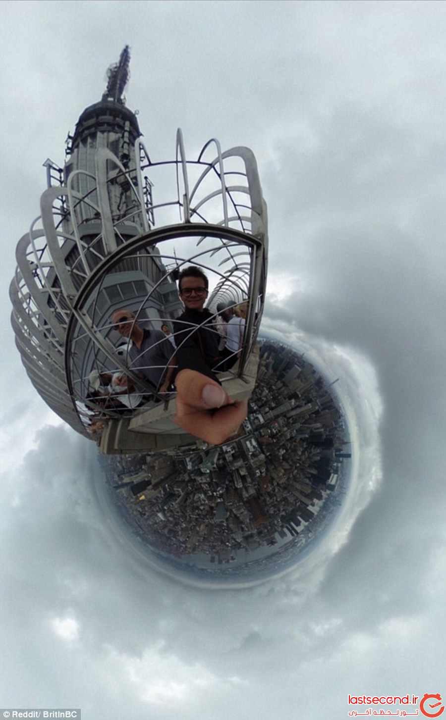 یک سلفی جذاب و باورنکردنی از فراز ساختمان امپایر استیت نیویورک          