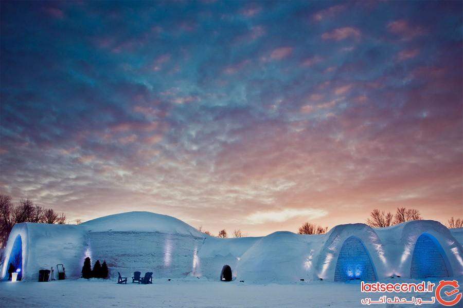 رنگ یخی قطبی آشنایی با شگفت انگیزترین هتل های یخی   لست سکند , تور لحظه ...