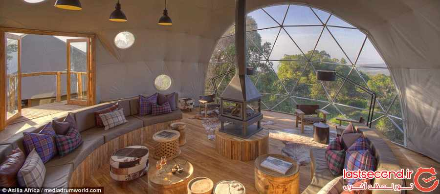 خانه های گنبدی شکل سنتی ، اقامتگاههای لوکس در جنگل های آفریقا      