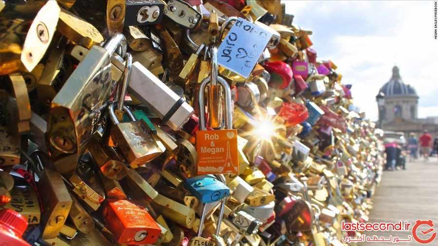  چه بر سر قفل های عشاق  در پاریس می آید ؟           