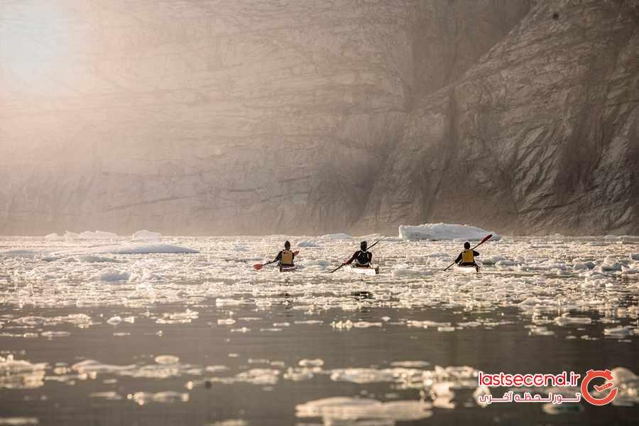 رنگ یخی قطبی گرینلند ، سرزمین یخی که در حال آب شدن است   لست سکند