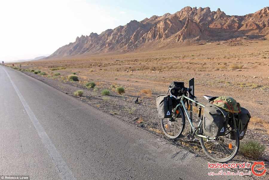 دوچرخه سواری زن لندنی در ایران       