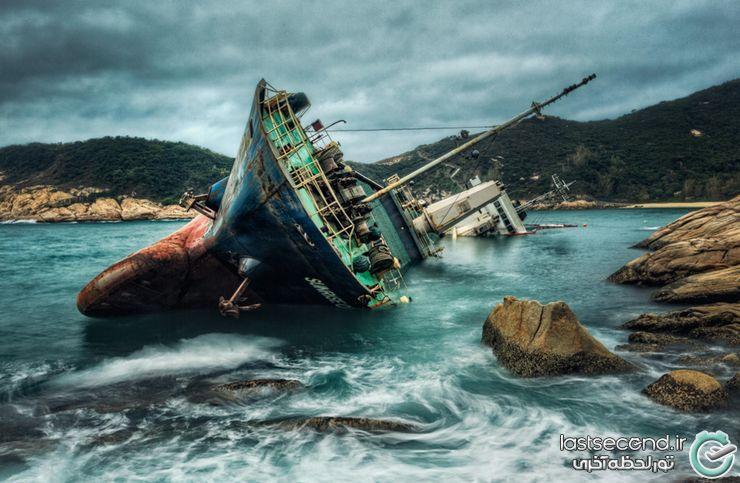 تصاویر زیباترین کشتیهای به گل نشسته دنیا