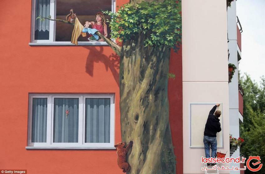 بزرگترین نقاشی دیواری در آلمان