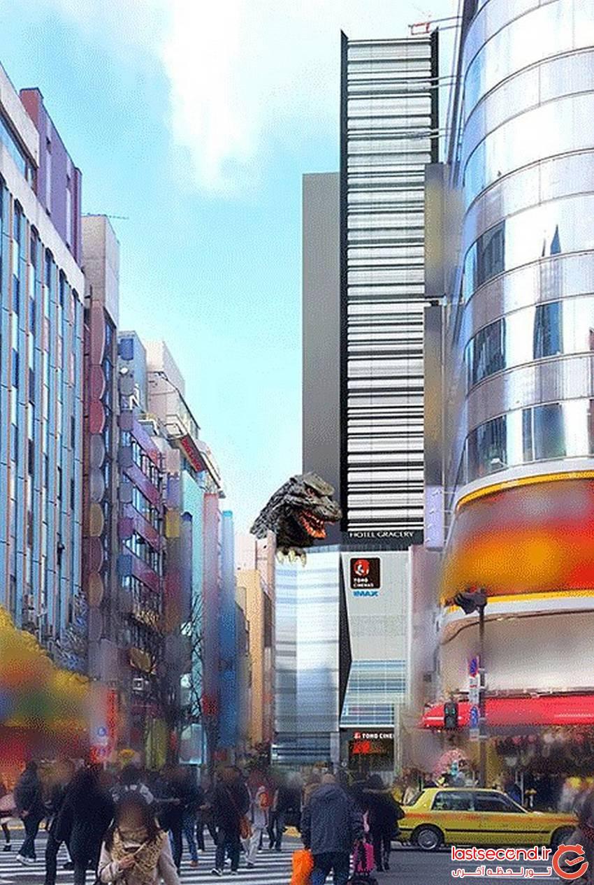 طراحی هتلی به شکل سر گودزیلا در ژاپن