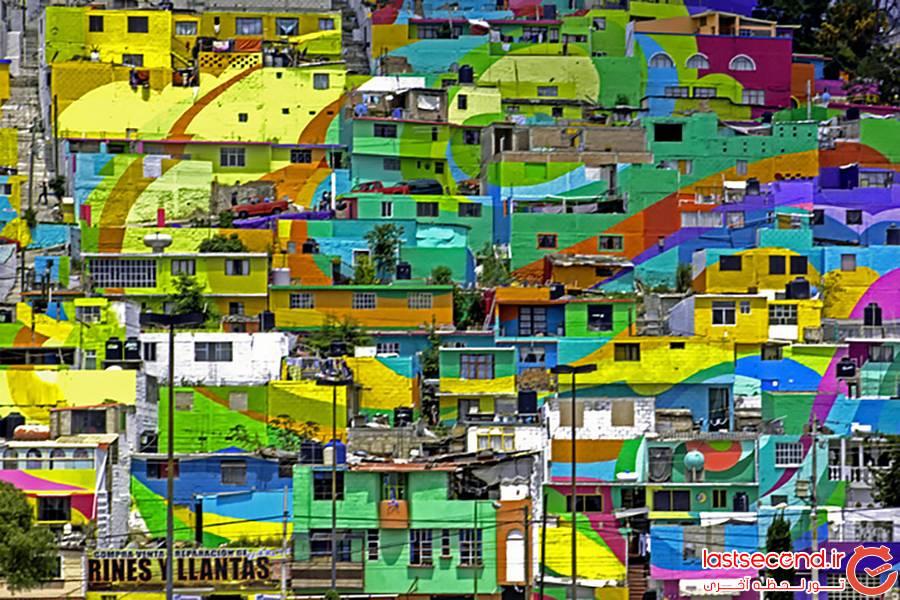 محله ای در مکزیک رنگین کمان می شود