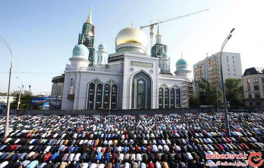 2 بزرگترین مسجد اروپا، در مسکو افتتاح شد