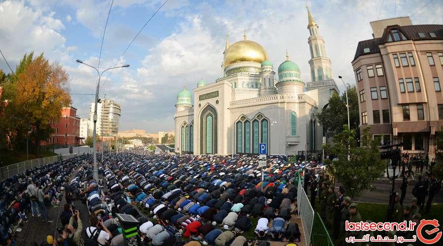 3 بزرگترین مسجد اروپا، در مسکو افتتاح شد