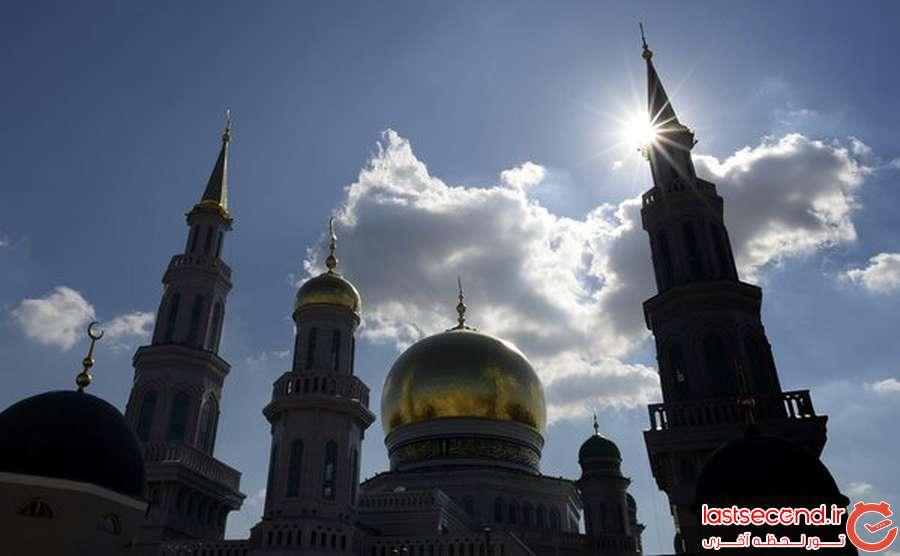 4 بزرگترین مسجد اروپا، در مسکو افتتاح شد