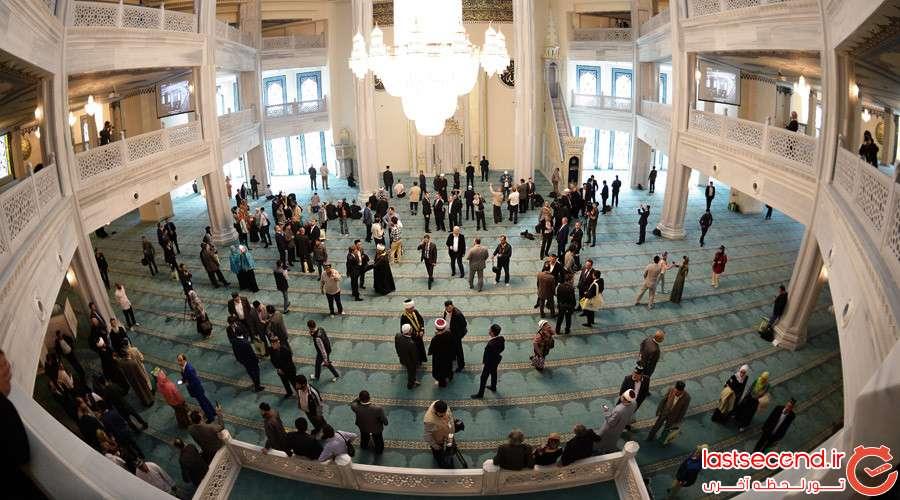 5 بزرگترین مسجد اروپا، در مسکو افتتاح شد