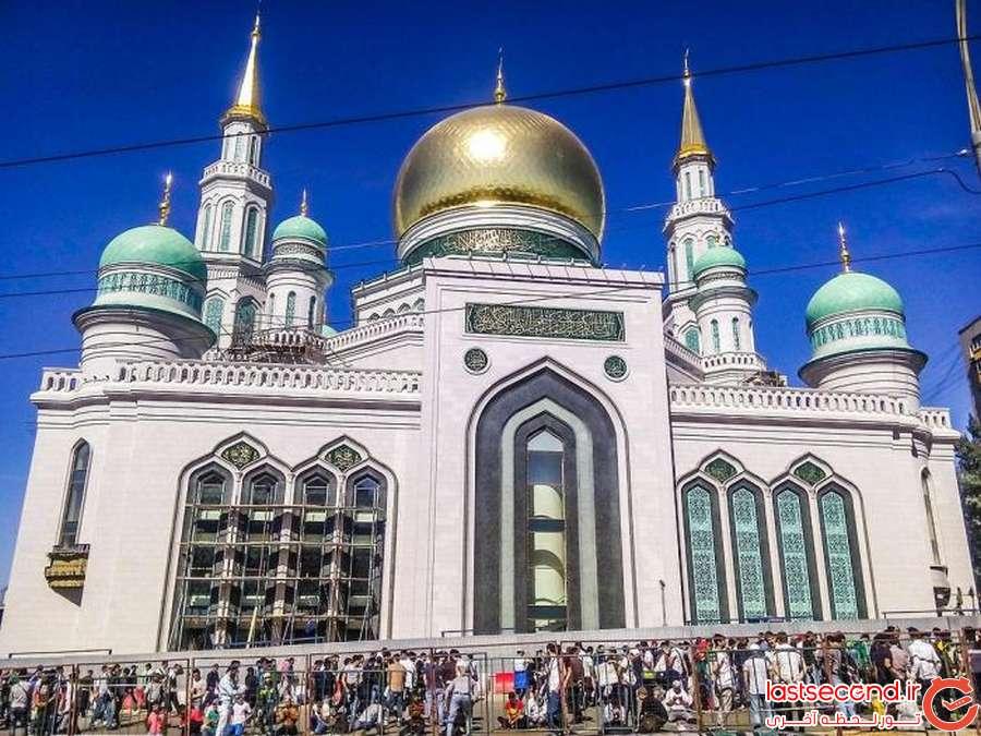 7 بزرگترین مسجد اروپا، در مسکو افتتاح شد