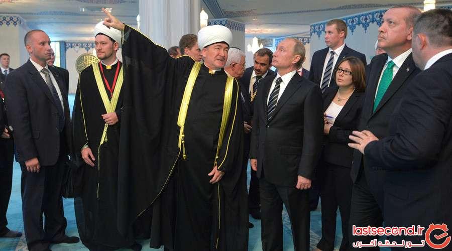 8 بزرگترین مسجد اروپا، در مسکو افتتاح شد