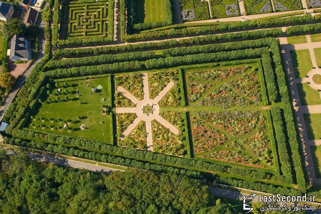 باغ زیبا و باستانی ویلاندری در فرانسه