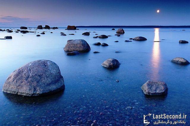 7 منظره دیدنی از تخته سنگهای گرد یا گردالهها
