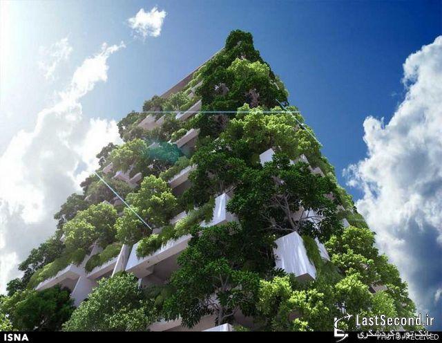 طراحی بزرگترین باغ عمودی مسکونی جهان