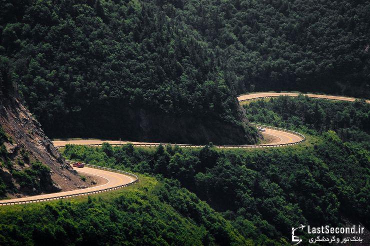 جاده چالوس، یکی از پنج جاده زیبای جهان